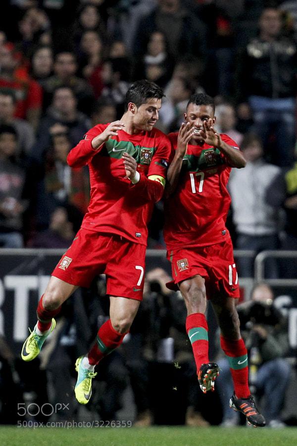 Cristiano Ronaldo e Nani, Portugal vs Bosnia, apuramento EURO 2012, 15 de Novembro de 2011, Estadio da Luz, Lisboa