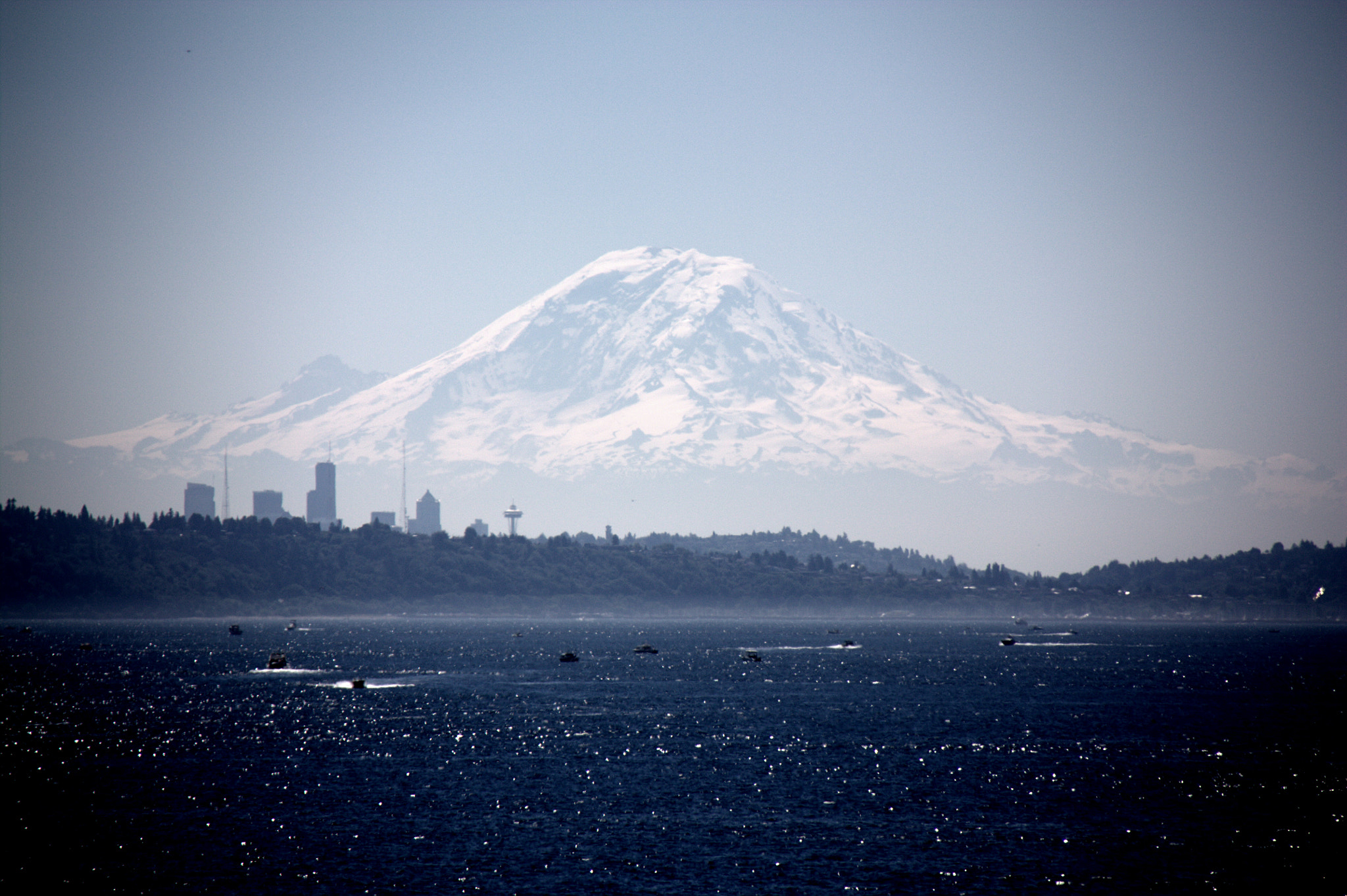 Photograph Seattle and Mt Rainier by Flore Y on 500px