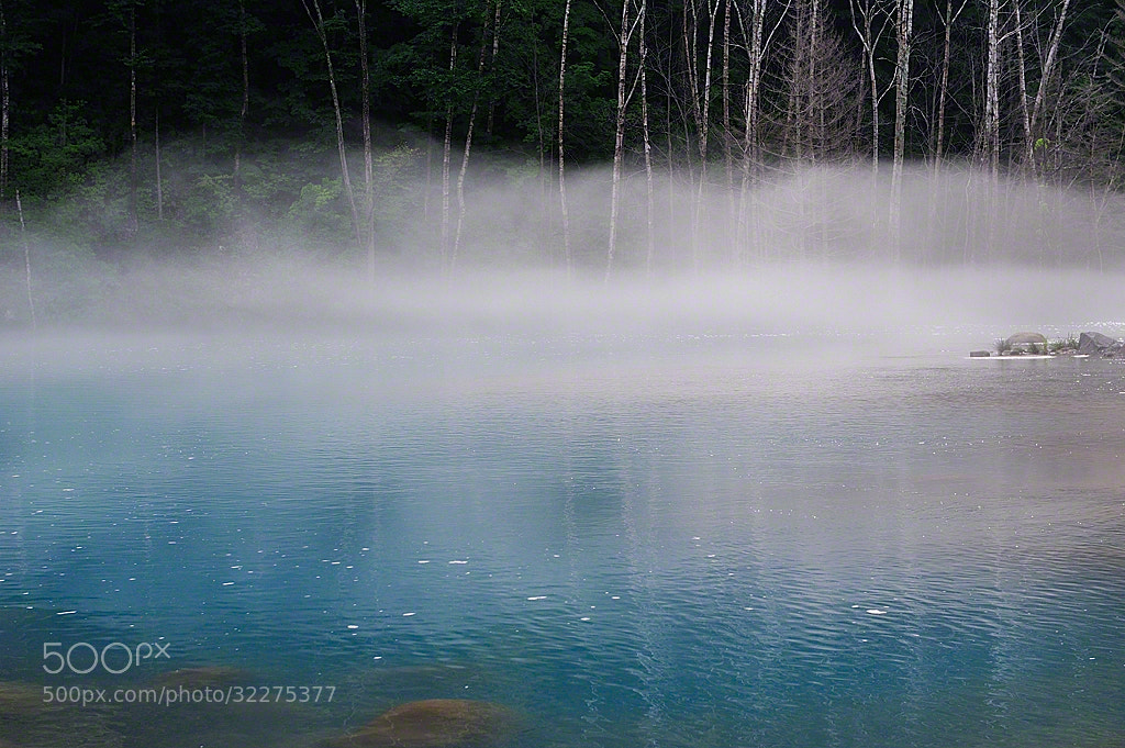 Photograph The Blue River In The Morning Mist by Kent Shiraishi on 500px