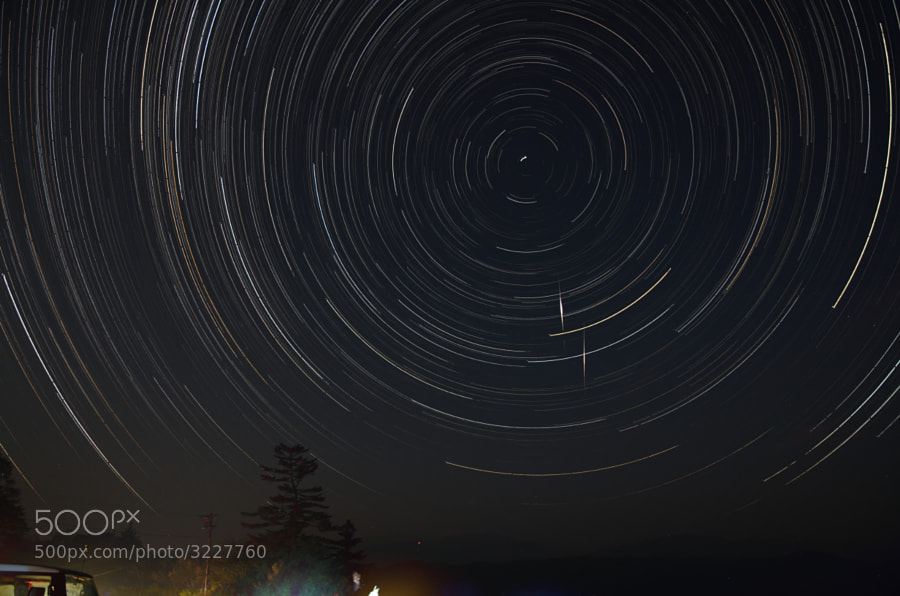 Startrails of Draconoids