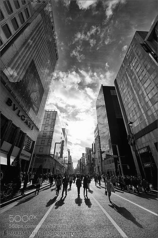 Photograph Ginza Mainstreet by Martin Bailey on 500px