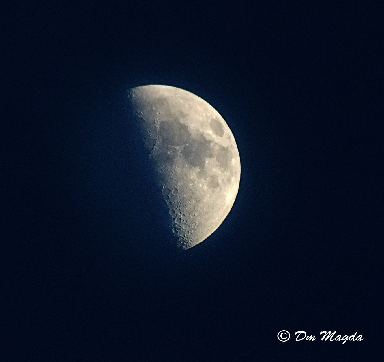 Photograph Moon half by mada dm on 500px