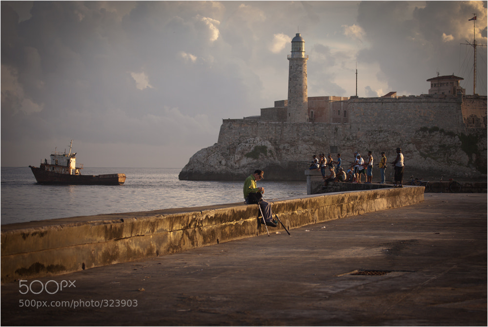 Photograph Evening in Havana. Malecon. by Wanderingval :-)  on 500px