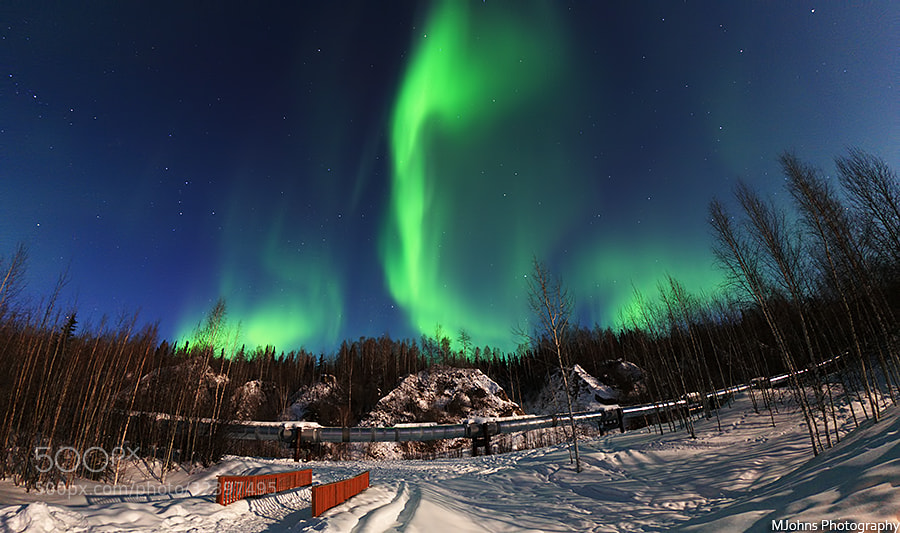 Photograph Aurora at the pipeline by Johns Tsai on 500px