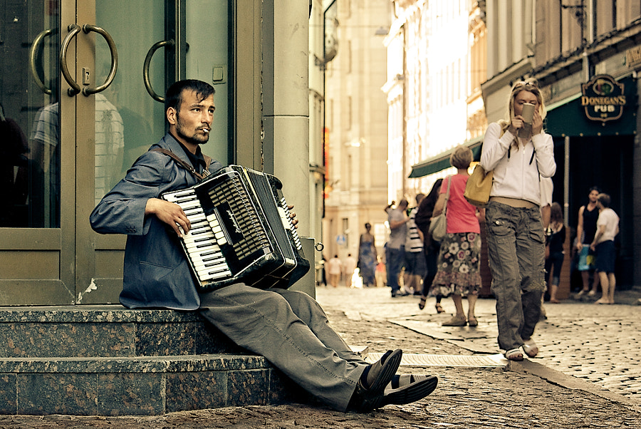 Photograph The street musician by Alina Voitkov? on 500px