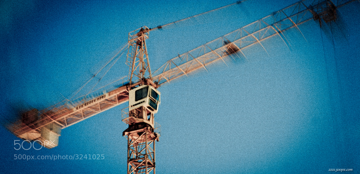 Photograph The Self-blurring Crane by S. S. on 500px