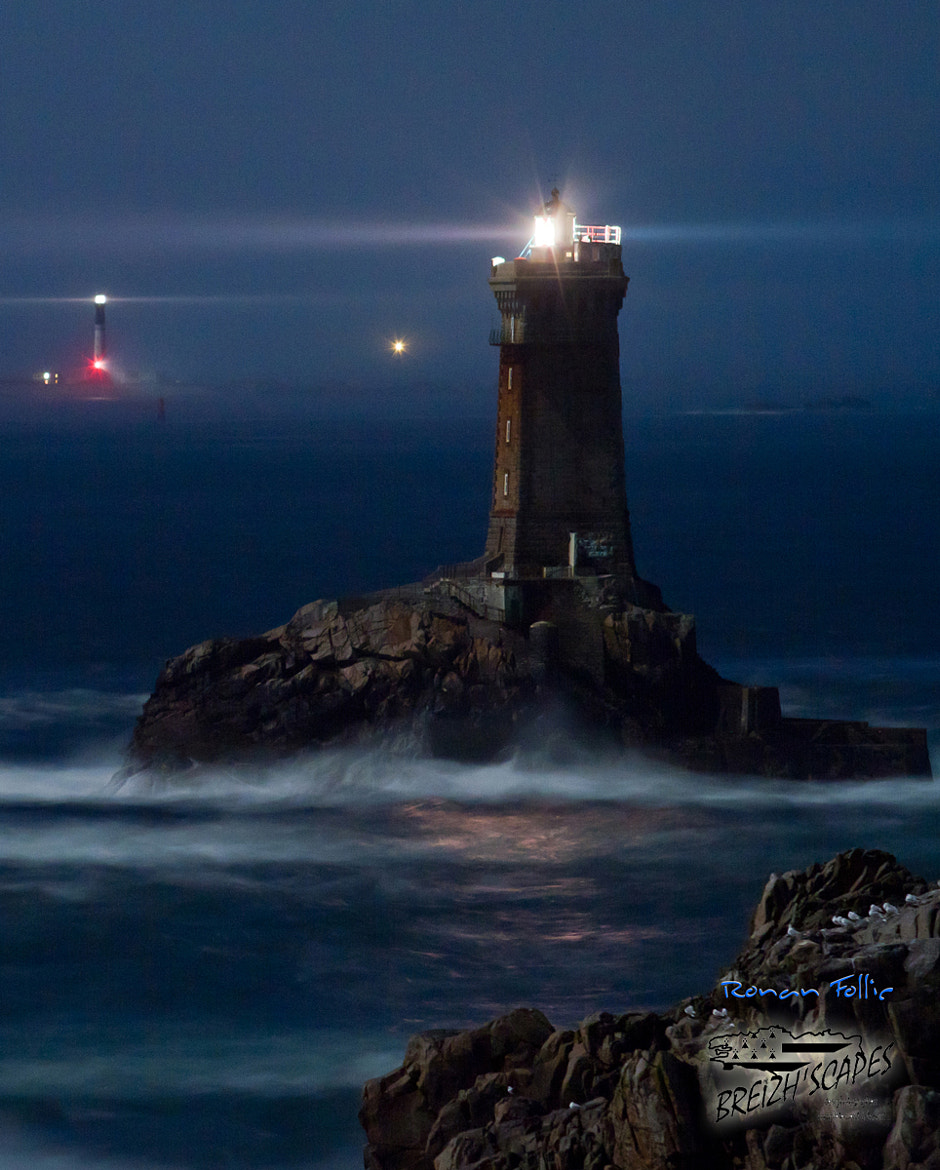 Photograph The old lighthouse under the moon by Breizh'scapes Photographes on 500px