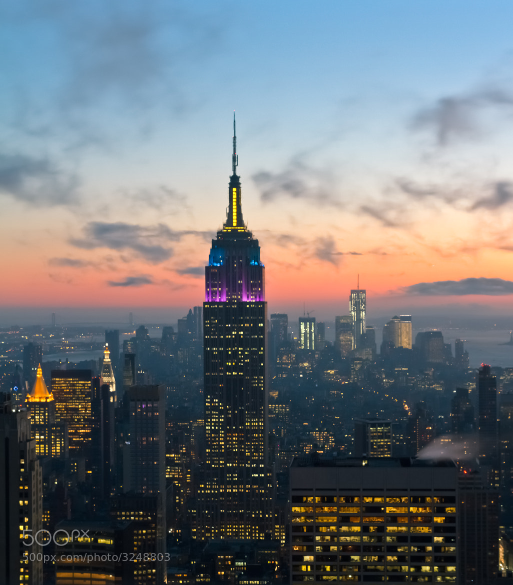 Photograph sunset in the middle of big apple by Krasheninnikov Stepan on 500px