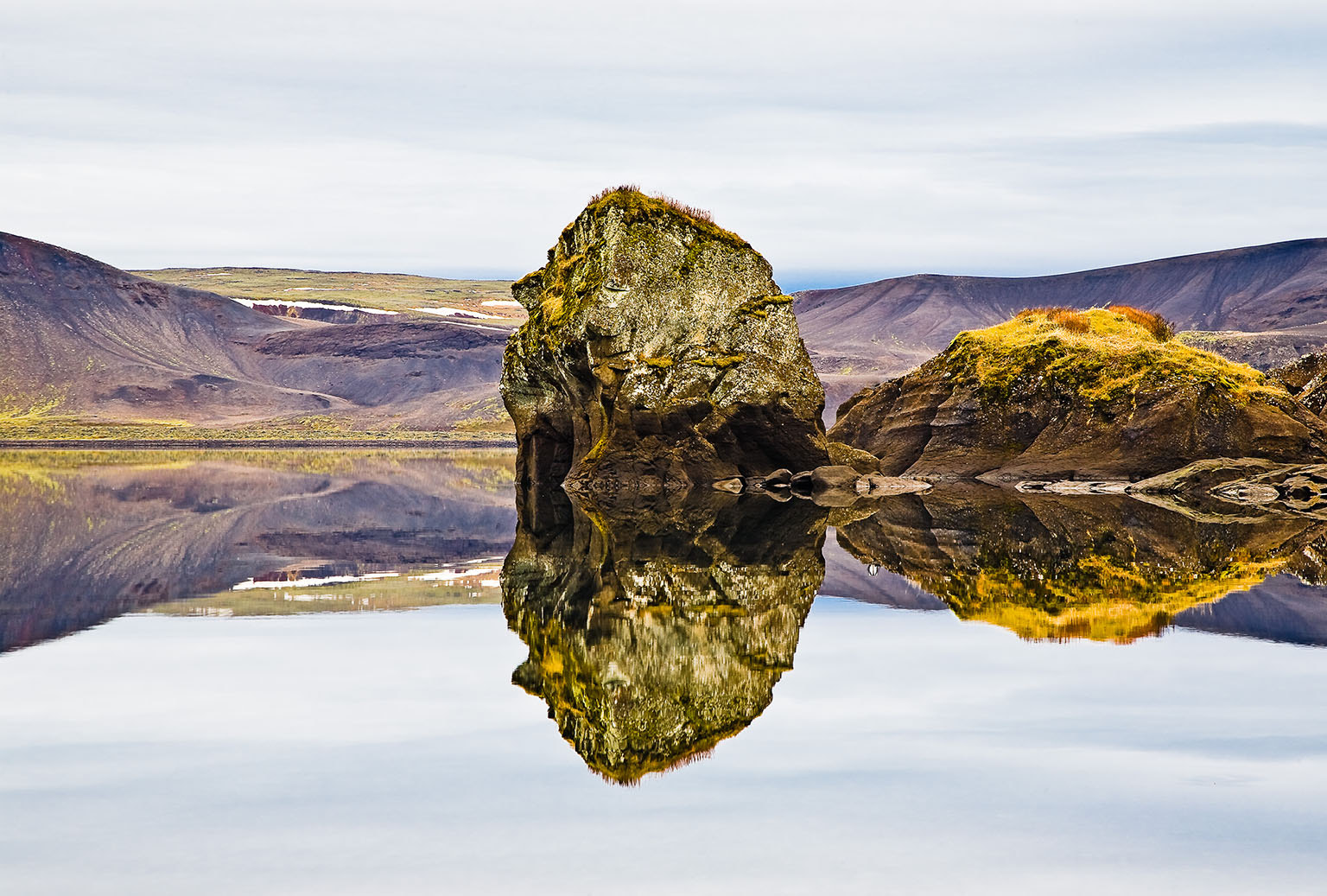 Photograph Autumn Reflection - Lake Kleifarvatn, Iceland by Páll Guðjónsson on 500px
