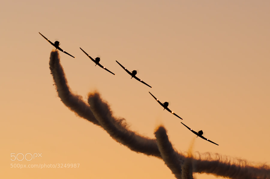 The Geico Skytypers perform their night show at the 2011 NAS Pensacola Homecoming Airshow