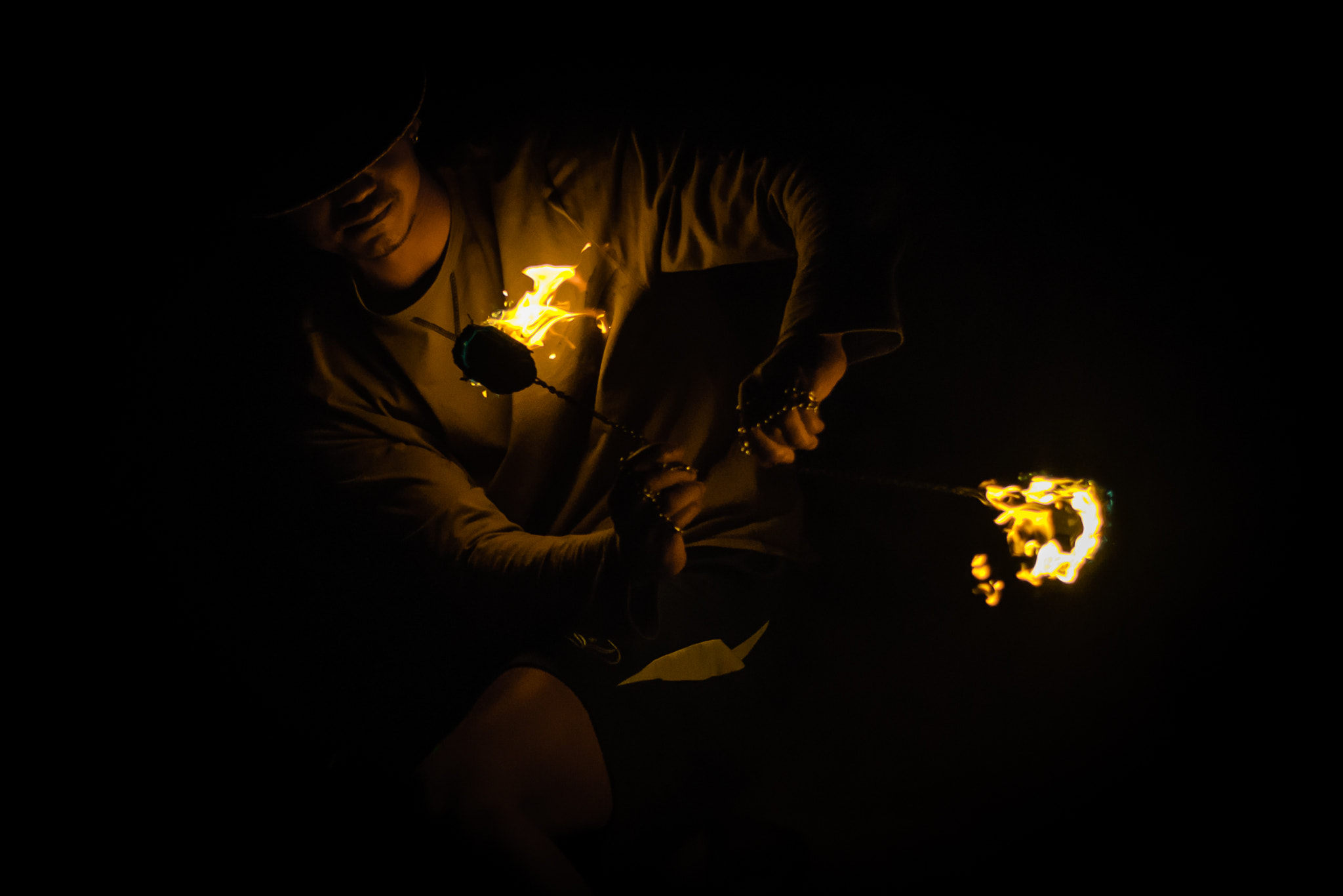 Photograph Playing with fire by Matthieu Dumeau on 500px