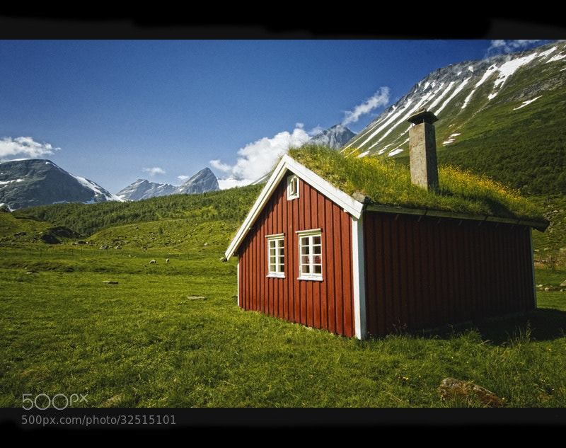 Photograph Blue Sky, Green Land, Red House by Ruud van den Berg on 500px