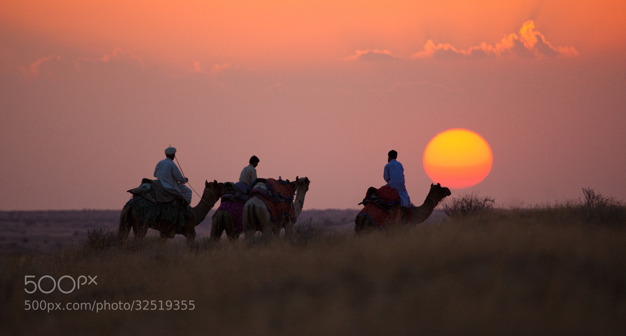 Photograph Sunset in the Rajahstan Desert, India by Guy Brown on 500px