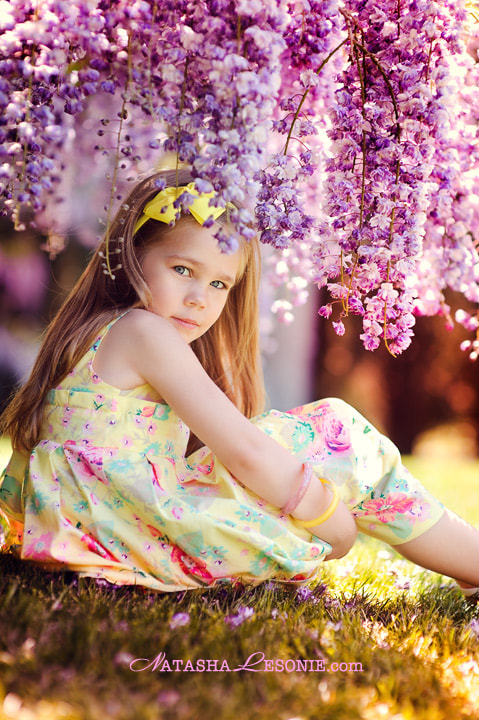 Photograph Wisteria girl by Natasha Lesonie on 500px