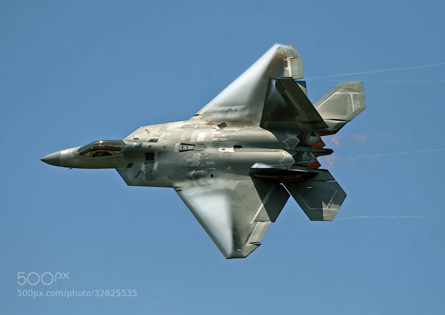 Trying to get through the lack of Air Shows to photograph by going through thousands of previous air show images.  This one is from the 2009 Air Power Over Hampton Roads Air Show, Langley Air Force Base, Virginia.  It depicts a F-22A Raptor assigned to the 94th Fighter Squadron, 1st Fighter Wing, USAF.