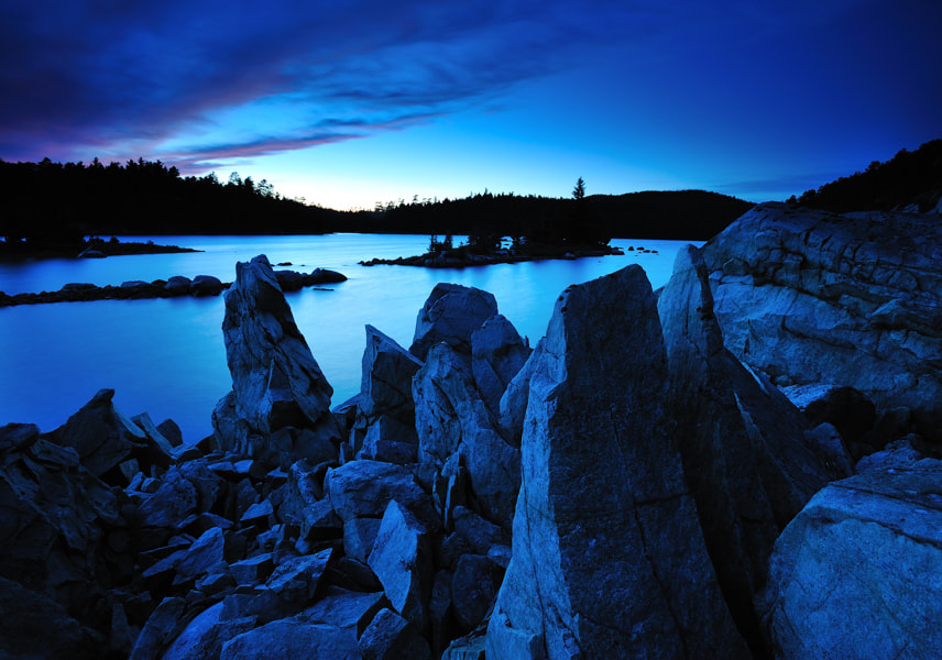 Photograph Blue hour, Wolf Lake by Peter Bowers on 500px