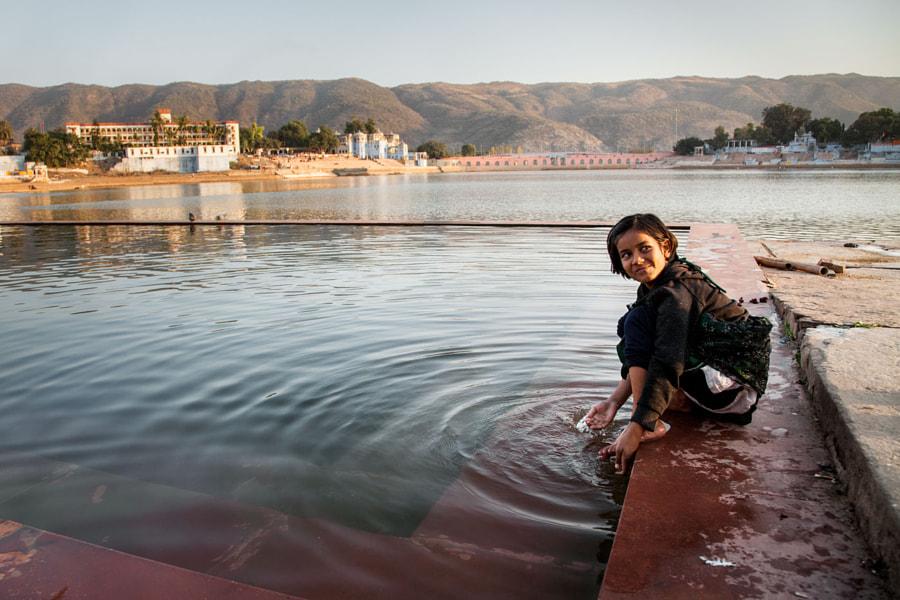 Ablution in saint Pushkar lake
