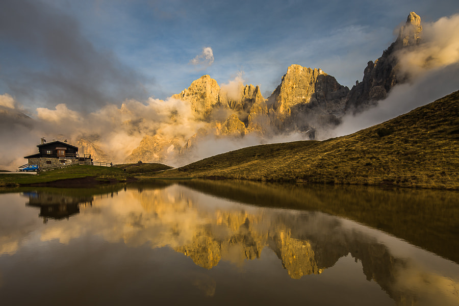"""<a href=""""http://www.hanskrusephotography.com/Workshops/Dolomites-October-7-11-2013/24503434_Pqw9qb#!i=2487633560&k=jJTWLwc&lb=1&s=A"""">See a larger version here</a>  This photo was taken during a photo workshop that I was leading in the western part of the Dolomites in October 2012."""