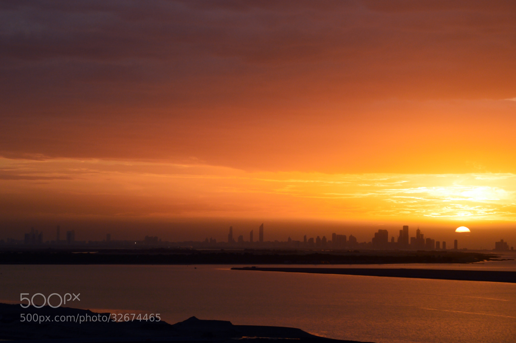 Photograph Sunset over Abu Dhabi City by Garry Dow on 500px