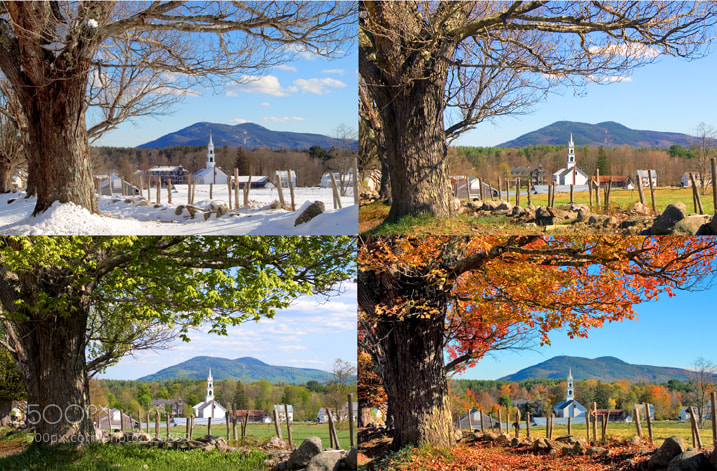 Photograph 4 Seasons #1, Tamworth, NH by Larry Landolfi on 500px