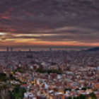 3 Stitched Photos, Barcelona, Spain