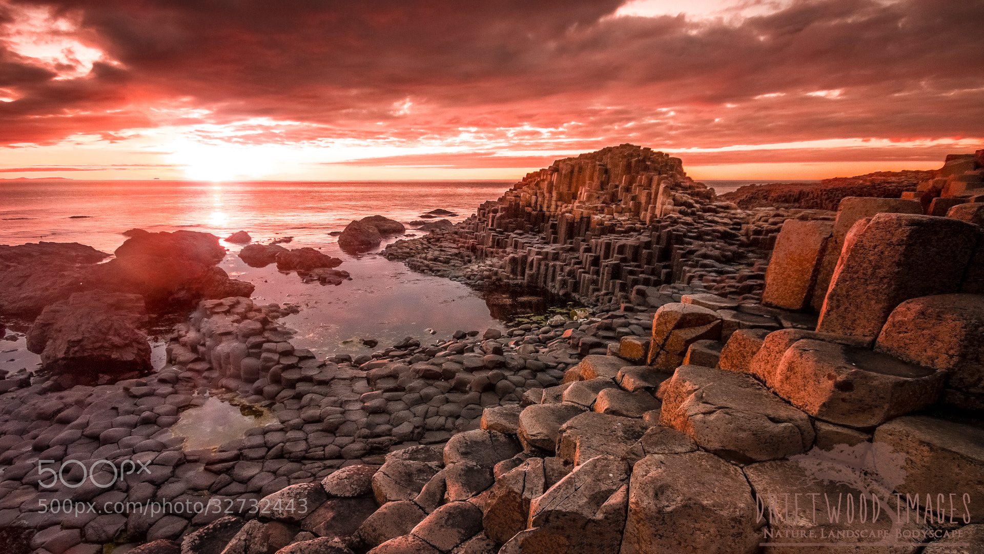 Photograph Sunset At The Giants Causeway by James Pion on 500px