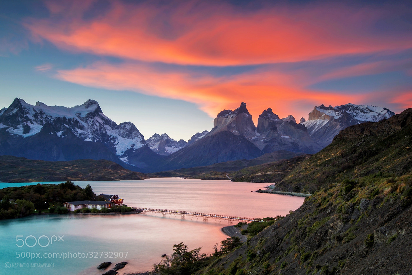 Photograph Sunset at Torres Del Paine by Nae Chantaravisoot on 500px