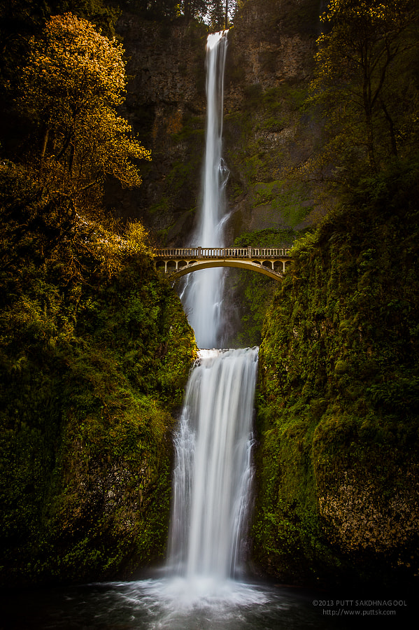 Photograph Multnomah Falls by Putt Sakdhnagool on 500px