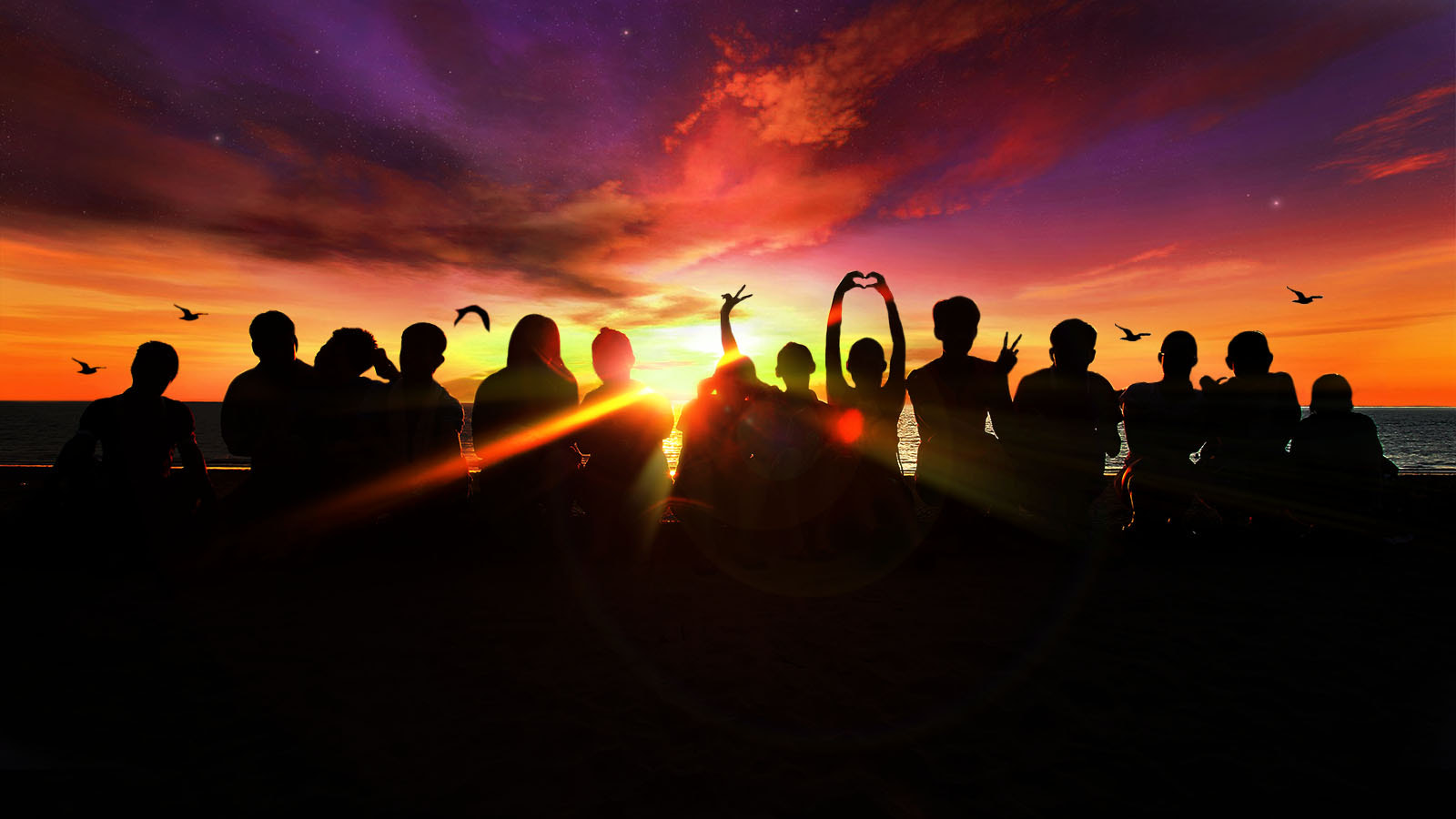 Photograph Young people with the sunset by Peter Lee on 500px