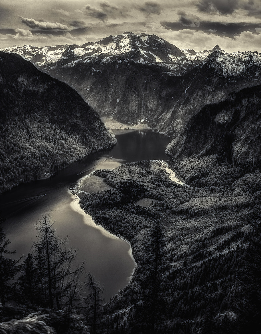 Photograph bavarian fjord bw by Helmut R. Kahr on 500px
