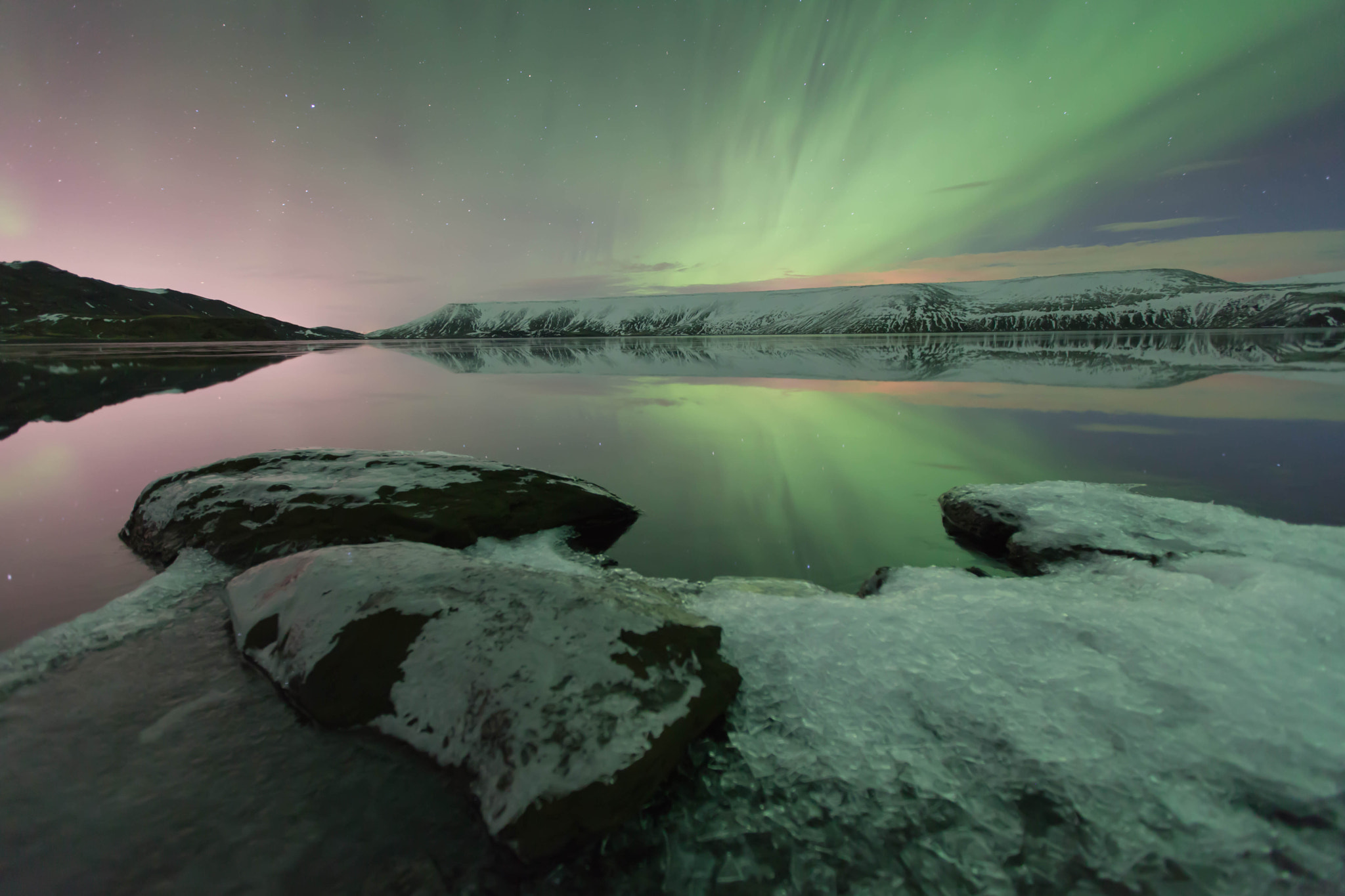 Photograph Iceland's Aurora Borealis by Jacky CW on 500px