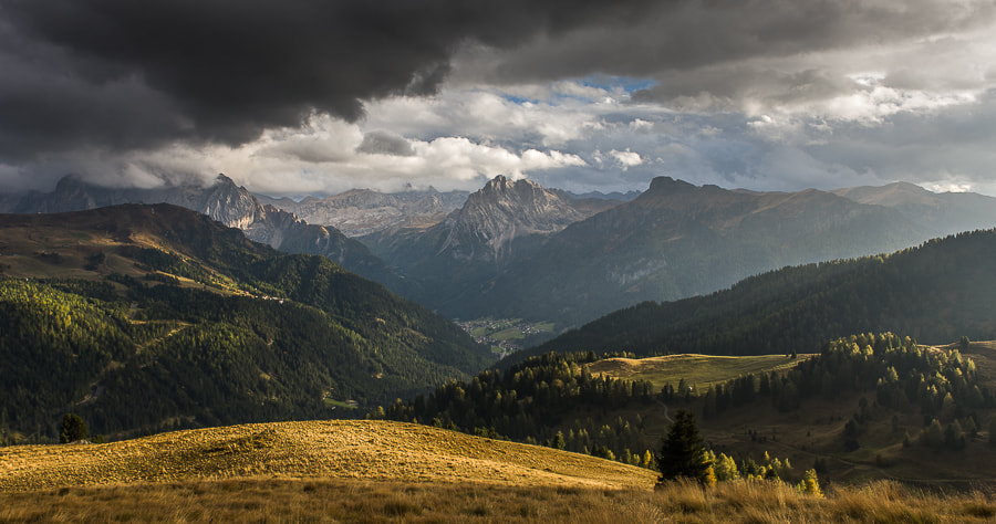 """<a href=""""http://www.hanskrusephotography.com/Workshops/Dolomites-September-9-13-2013/27288954_F322KR#!i=2489448510&k=ctHpFbL&lb=1&s=A"""">See a larger version here</a>  This photo was taken during a photo workshop that I was leading in the western part of the Dolomites in October 2012."""
