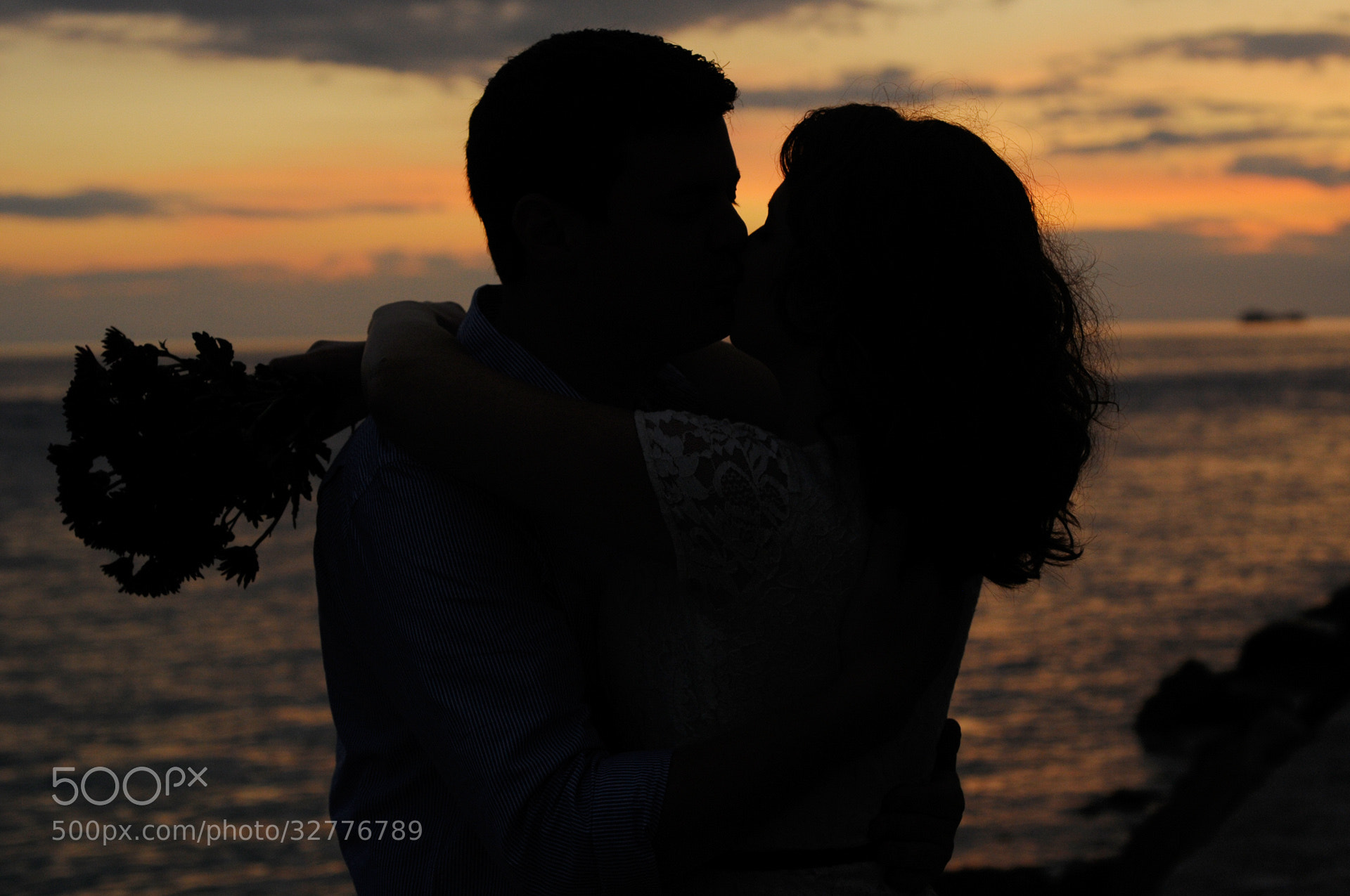 Photograph sunset engagement portrait by Jan Freire on 500px