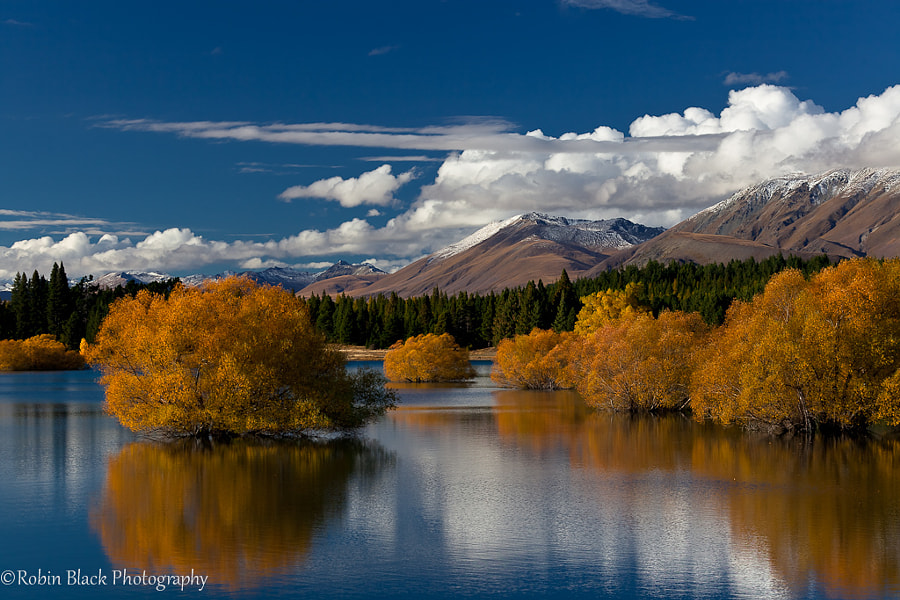 Lake Tekapo - Reflection and Fall Color (New Zealand) by Robin Black on 500px.com
