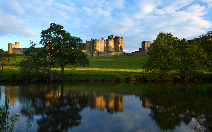 Golden hour at Alnwick Castle