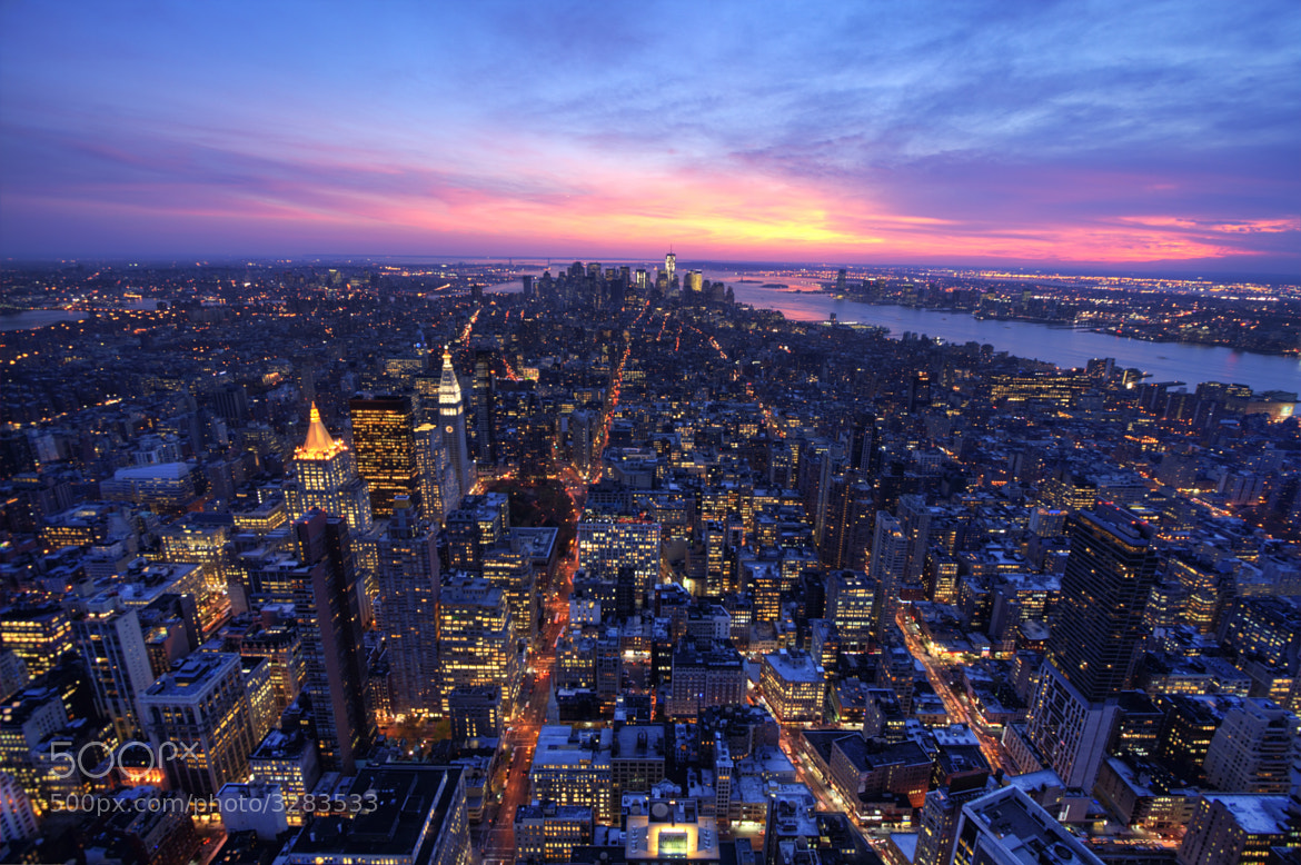Photograph Manhattan at Dusk by Paul Gornell on 500px