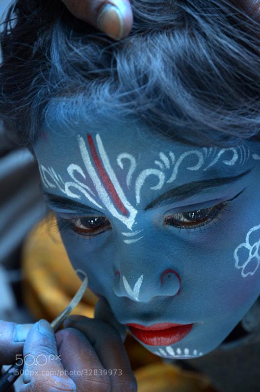 Photograph Making of the living God Krishna. by Tarun Kumar Bhattacharya on 500px