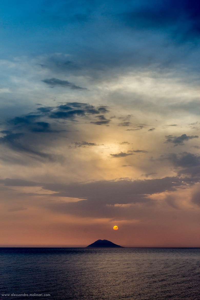 Photograph The end of the day over Stromboli by Alessandro Molinari on 500px