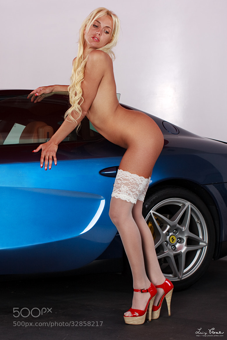 Photograph Elisa and the Ferrari 612 Scaglietti by Luigi Prearo on 500px