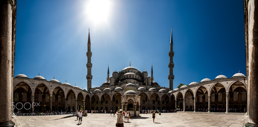 Photograph Blue Mosque by Naseer Behbehani on 500px