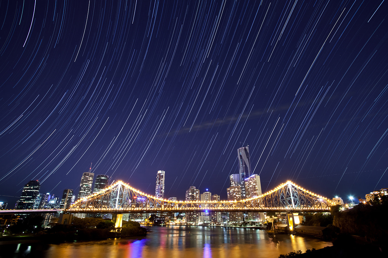 Photograph Brisbane City Startrails by Martin Canning on 500px