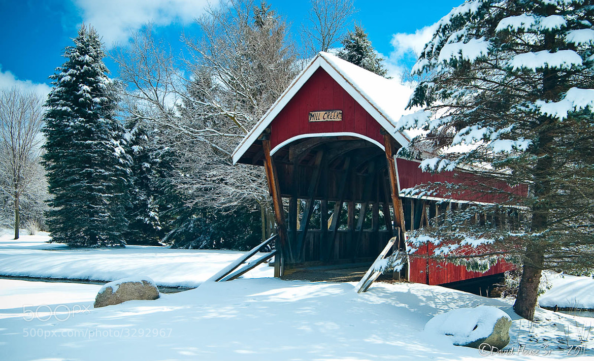 Photograph Snowy Covered Bridge by David Sr on 500px