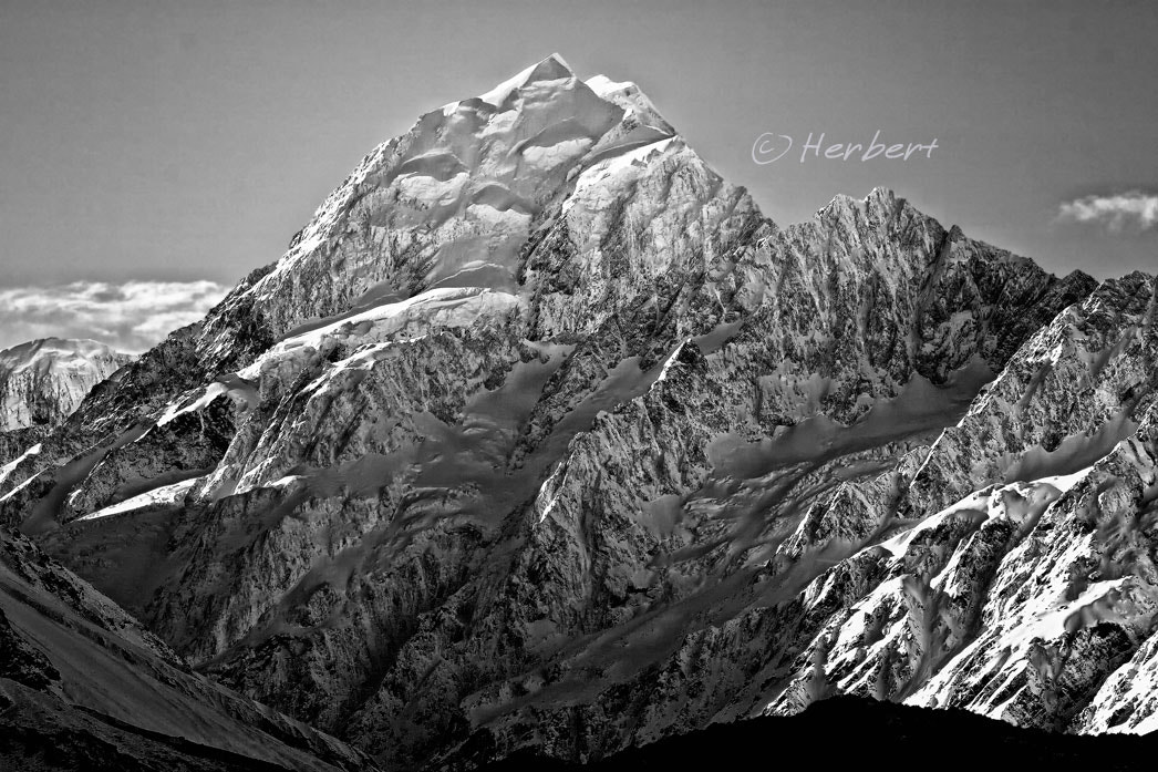 Photograph Mount Cook summit by Herbert Wong on 500px