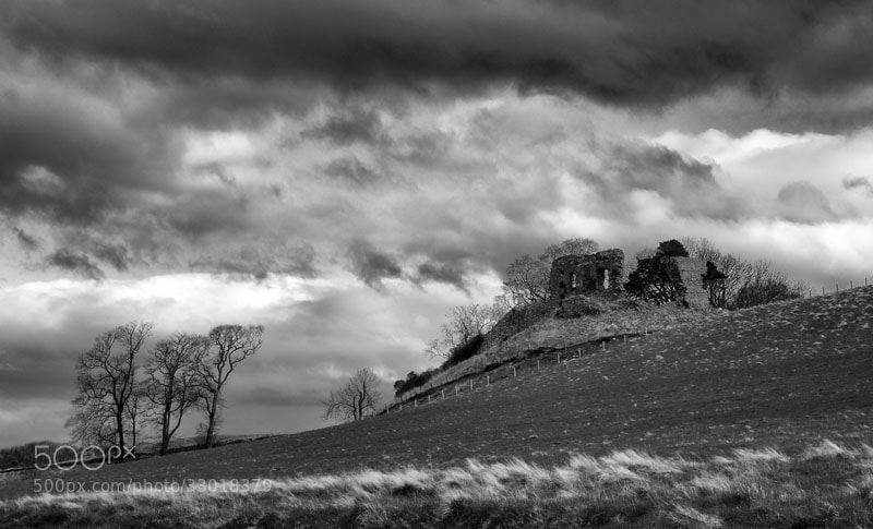 Photograph Skelbo Castle Ruin, Loch Fleet, Scottish Highlands by Heather Leslie Ross on 500px
