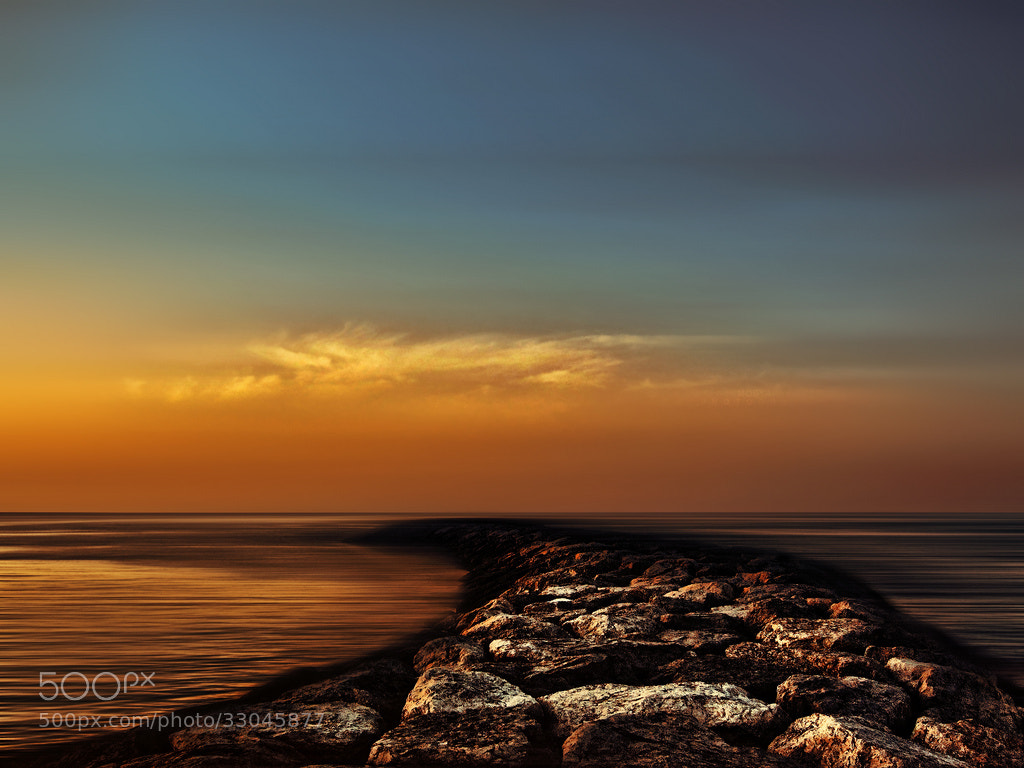 Photograph Sunset of the sea by Mostafa Hamad on 500px