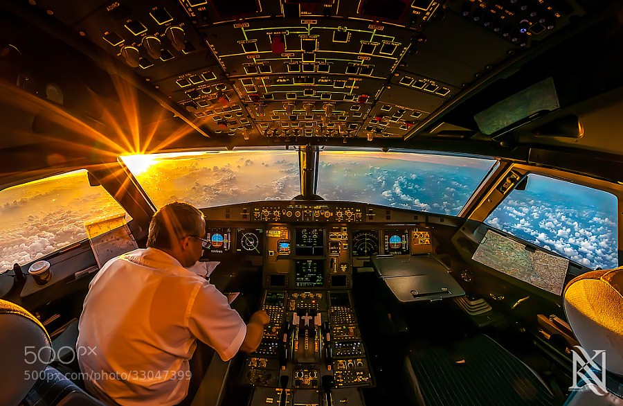 Photograph Sunrise In The Office by Karim Nafatni on 500px