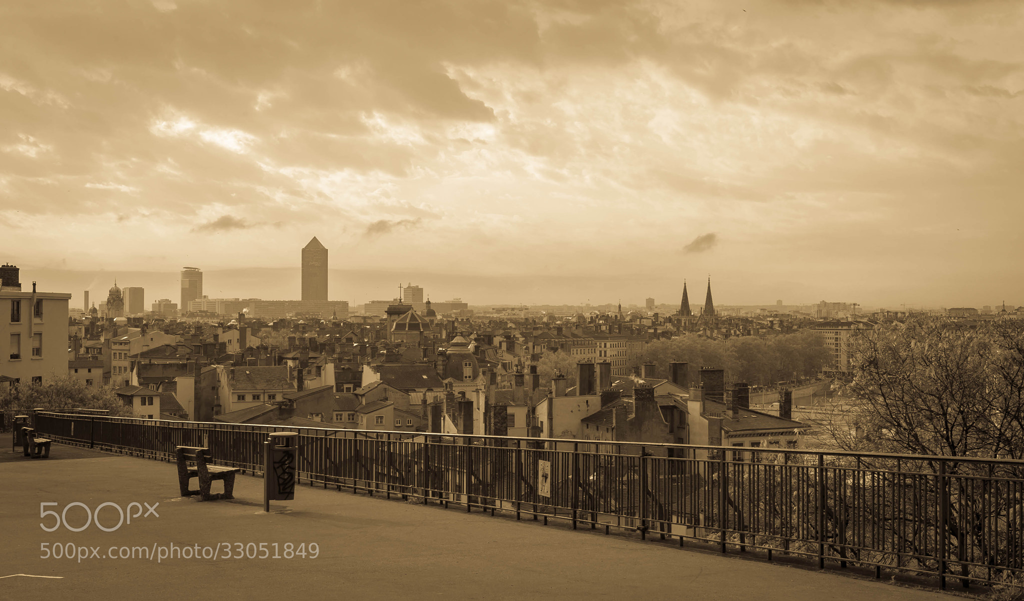 Photograph lyon's skyline by serge vincent on 500px