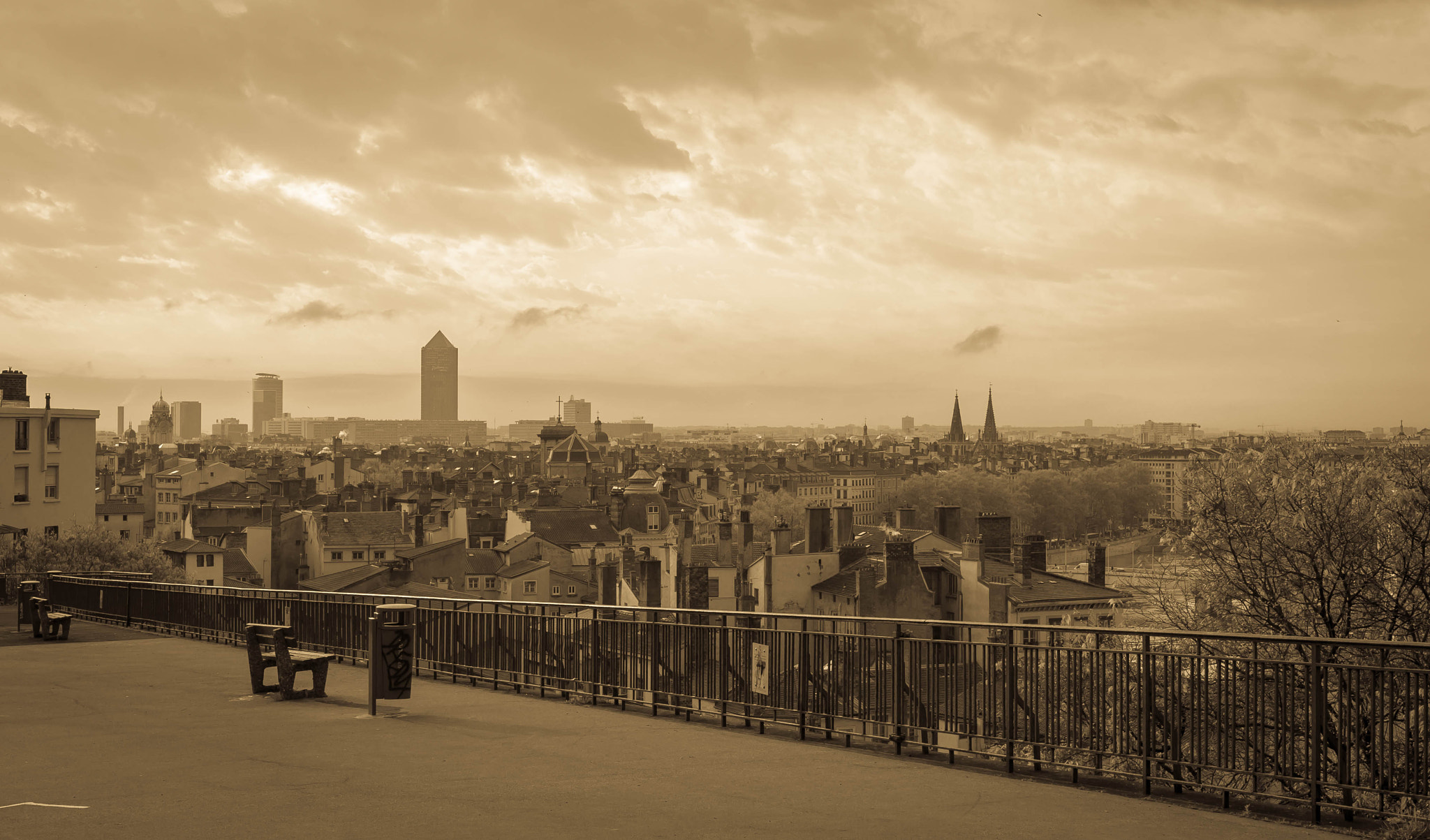 Photograph lyon's skyline by serge vincent on 500px