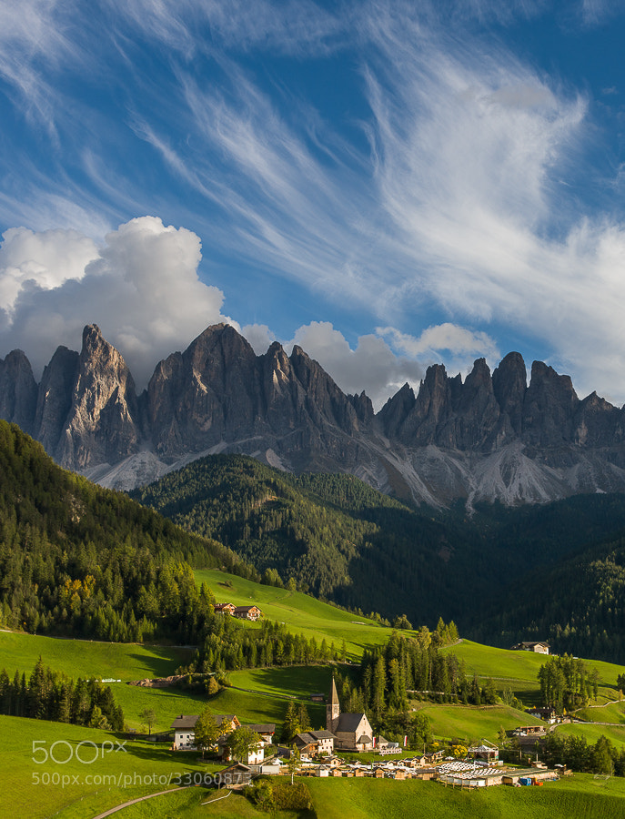"""<a href=""""http://www.hanskrusephotography.com/Workshops/Dolomites-October-7-11-2013/24503434_Pqw9qb#!i=2494040403&k=pnNF4Sm&lb=1&s=A"""">See a larger version here</a>   This photo was taken during a photo workshop that I was leading in the western part of the Dolomites in October 2012."""