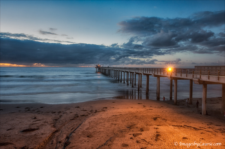 Evening shot taken at Scripps Pier, La Jolla CA